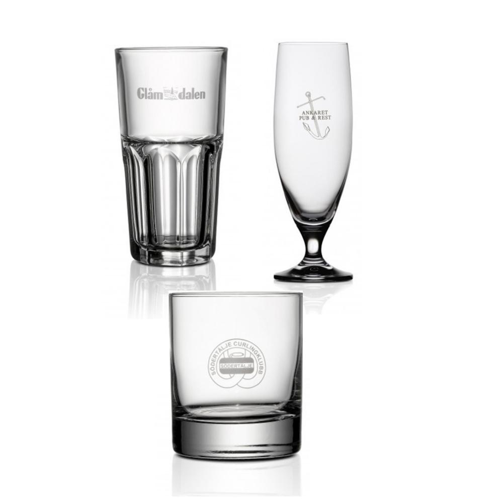 glas med tryck