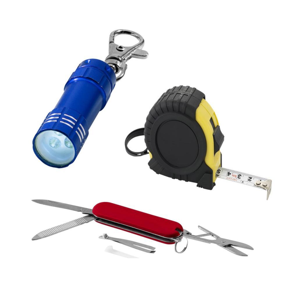 ficklampor och verktyg med tryck