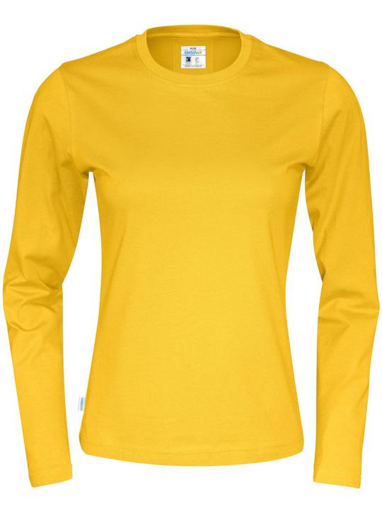 T-shirt Långärmad Tjej CottoVer röd