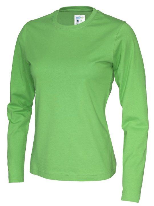 T-shirt Långärmad Tjej CottoVer grön