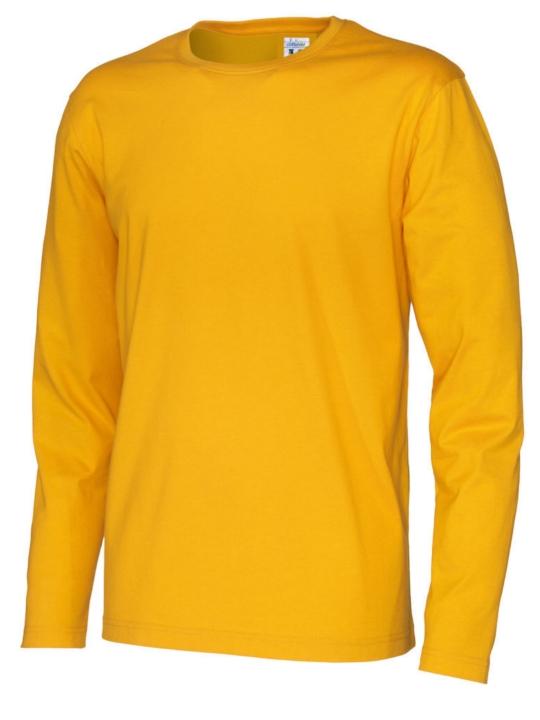 T-shirt långärmad CottoVer Gul