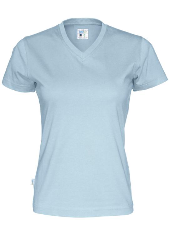 T-shirt V-neck Tjej CottoVer himmelså