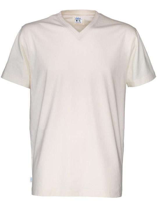 T-shirt V-neck CottoVer grön