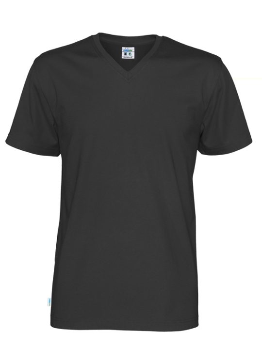 T-shirt V-neck CottoVer svart