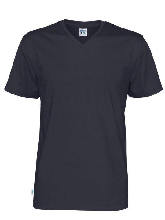 T-shirt V-neck CottoVer marinblå