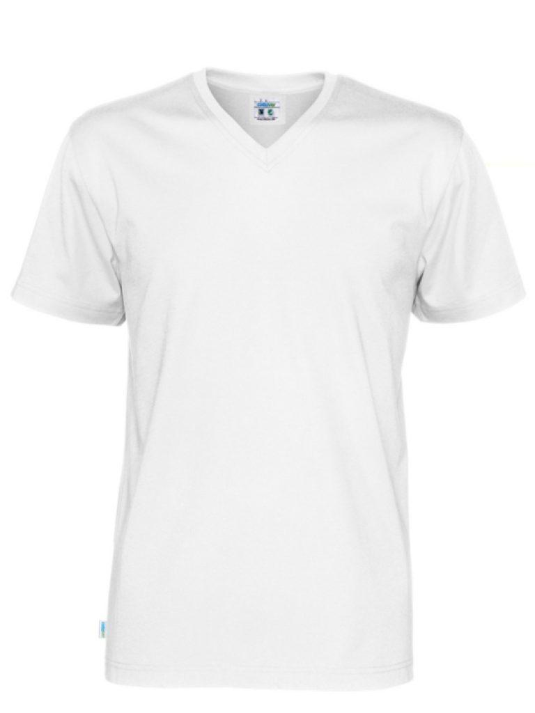 T-shirt V-neck CottoVer vitt