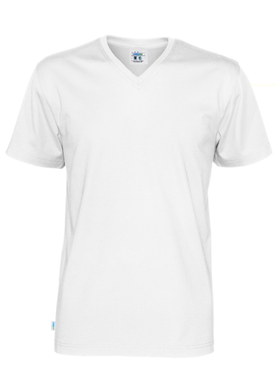 T-shirt V-neck CottoVer vitt