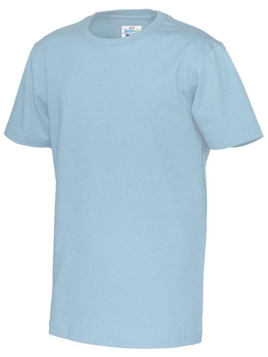T-shirt barn CottoVer himmelsblå