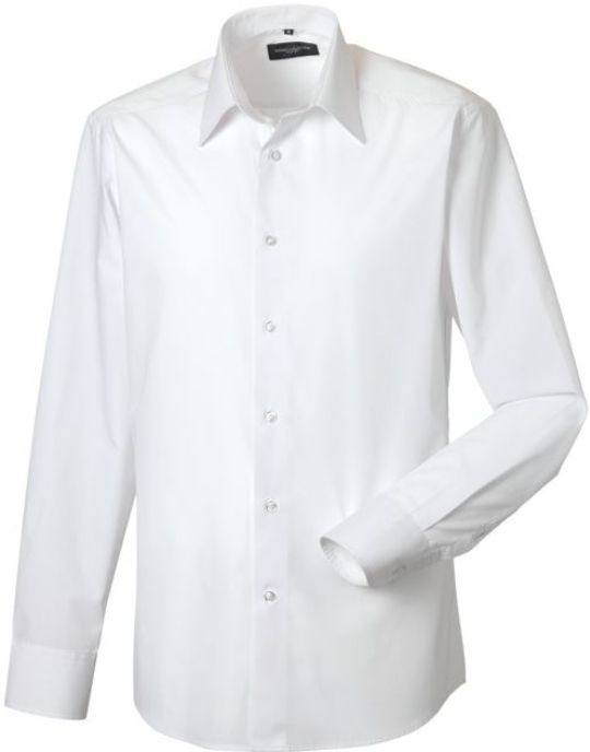 DoneMen´s SS Easy Care Tailored Poplin Shirt långärmad White