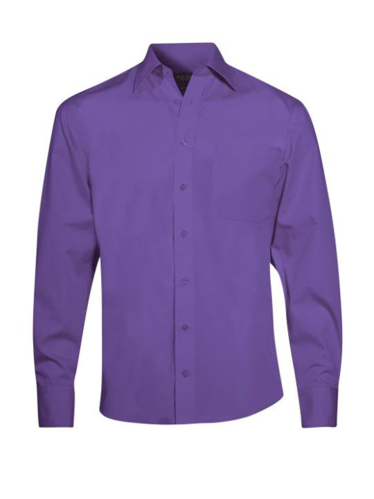 Ernst Alexis Mixed Cotton Slim Fit Herr lilac