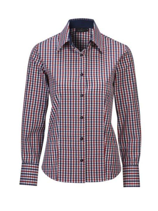 Ernst Alexis Skjorta Pure Cotton Normal Dam mörkblåmörkblå