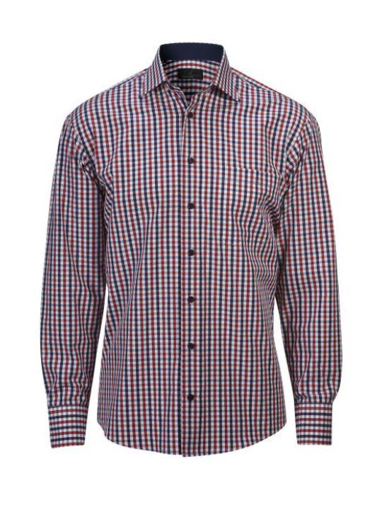 Ernst Alexis Skjorta Pure Cotton Normal Herr 100% bomull mörkblåmörkblå