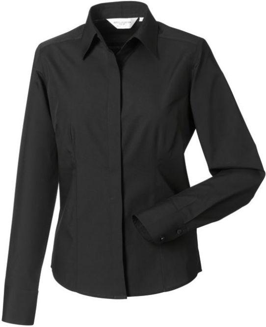 Långärmad Ladies LS Easy Care Fitted Poplin Shirt Black