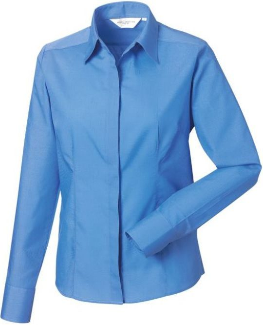 Långärmad Ladies LS Easy Care Fitted Poplin Shirt Corporate Blue