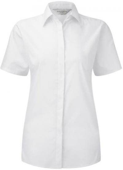 Ladies SS Ultimate Stretch Shirt White