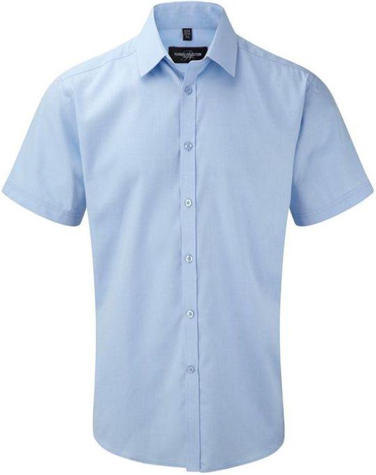 Men´s SS Herringbone Shirt Light blue