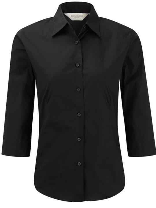 Russell 3/4 dam skjorta black