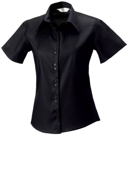 kortärmad skjorta Ladies´LS Ultimate Non iron från Russell Black