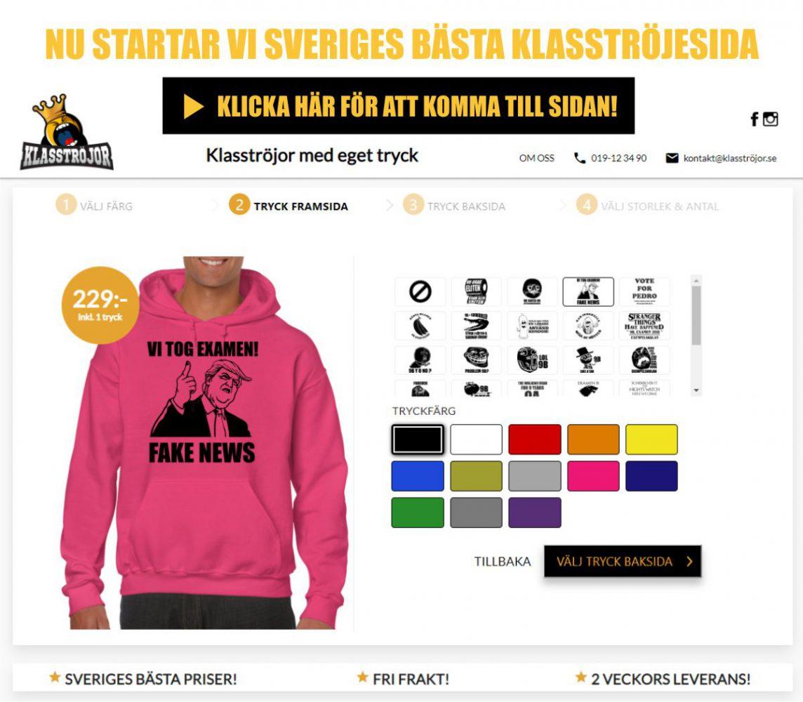 Klasströjor med tryck Köp nu med er egen design!