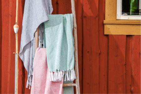 handdukar med tryck på